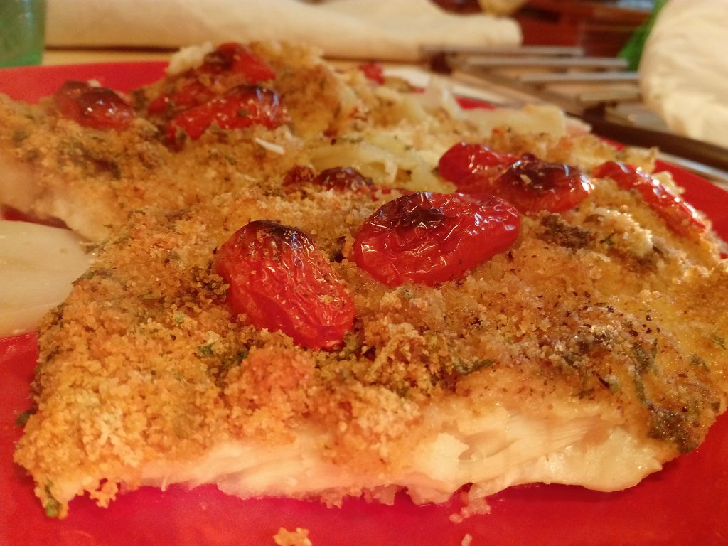 Filetto di persico su letto di patate casareccio bello - Pesce su letto di patate ...